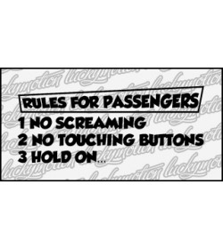 Rules For Passengers 27 cm
