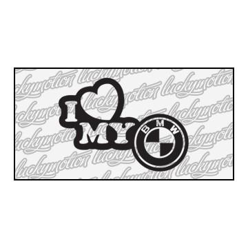 I Love My BMW 12 cm