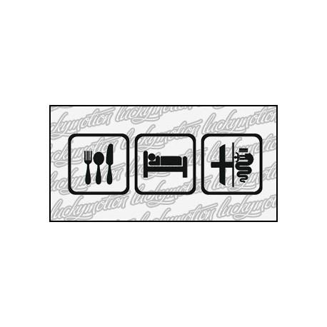 Eat Sleep Alfa Romeo 16 cm