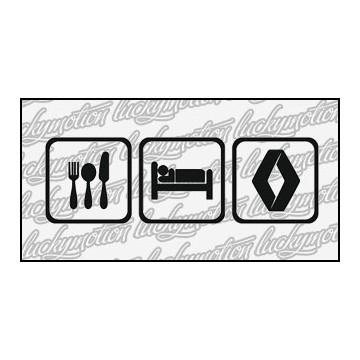 Eat Sleep Renault 16 cm