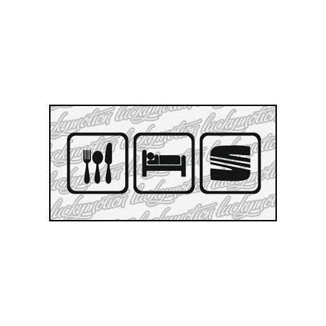 Eat Sleep Seat 16 cm