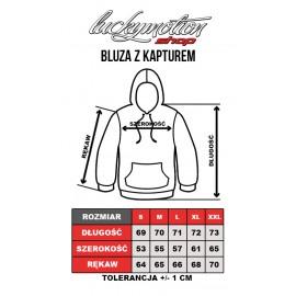 Tabela rozmiarów bluza z kapturem