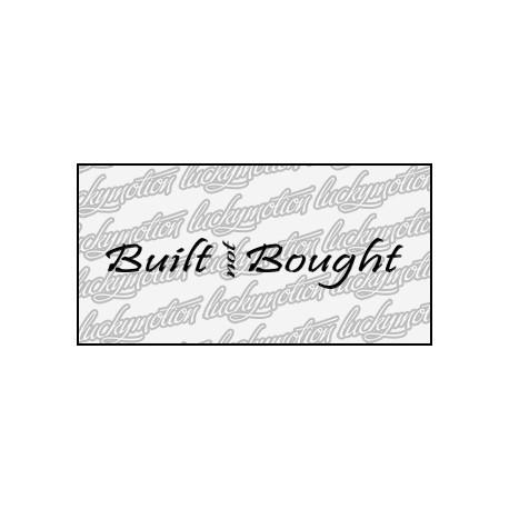 Built Not Bought 12 cm