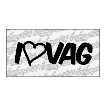 I Love VAG 14 cm