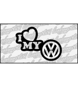 I Love Volkswagen 12 cm